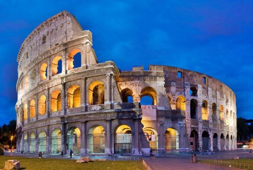 The Coliseum in Rome, Italy
